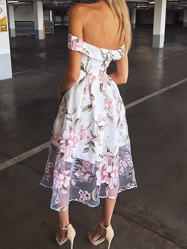 Off-the-shoulder Sexy Midi Dress