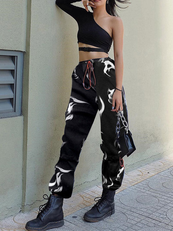 Drawstring Ankle-tied Pants