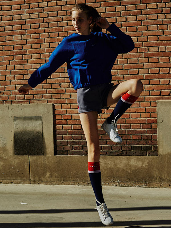 Color Block Athletic Knee High Socks