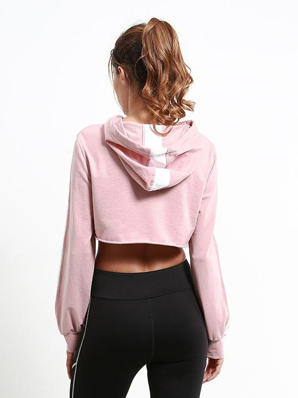 Draw String Midriff Hoodies & Jackets