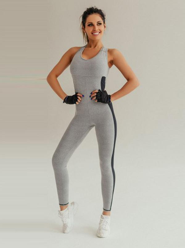 Yoga Cross Strappy Racerback Gym Jumpsuits