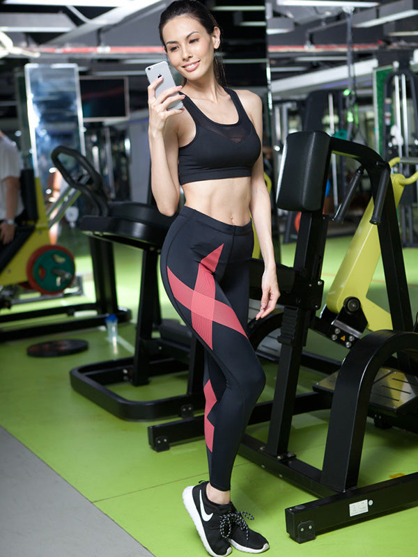 Special X-striped Fitness Sports Leggings