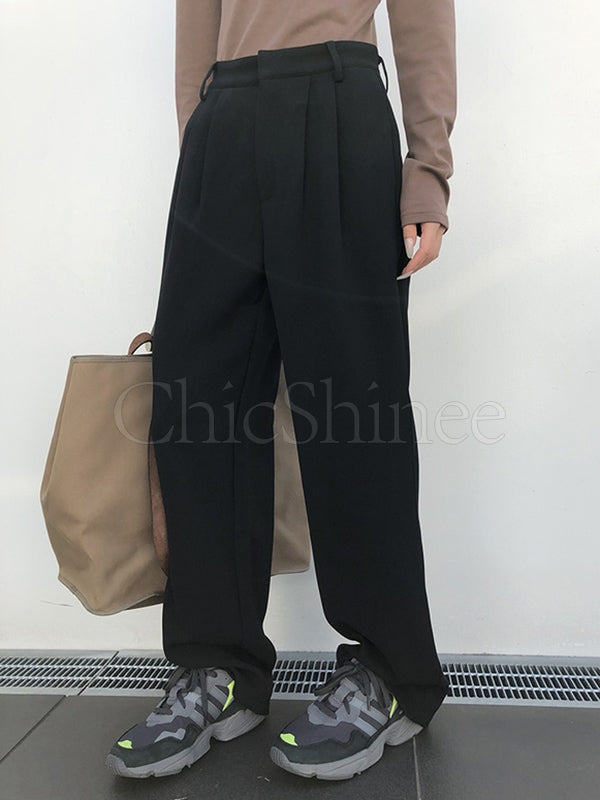 Casual Empire Thicken Wide Leg Suit Pants