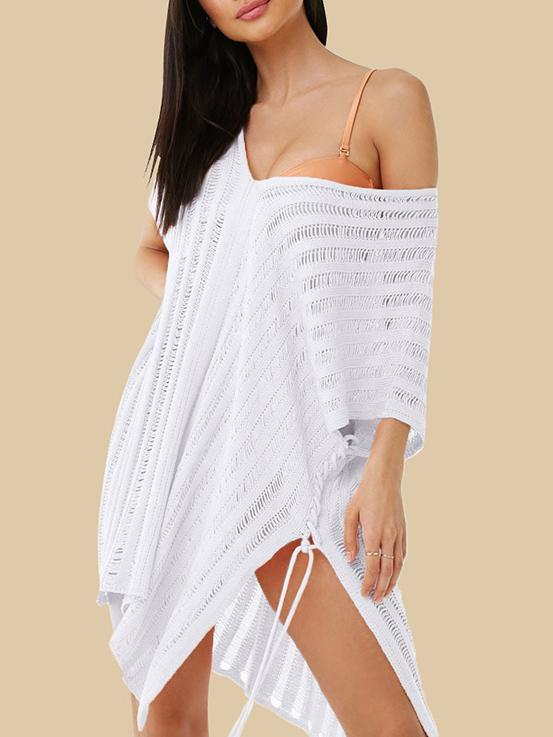 Sexy Hollow Split-side Cover-ups Swimwear