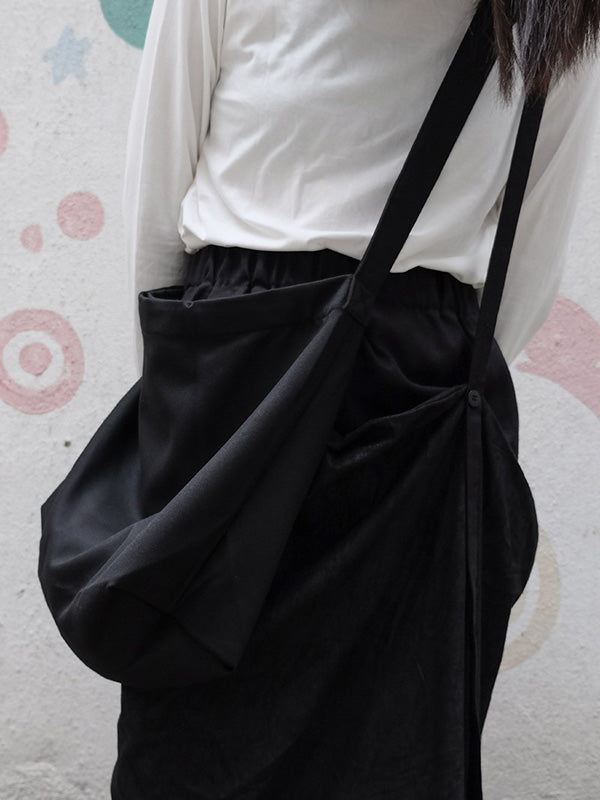Original Simple Solide One-shoulder Crossbody Bag