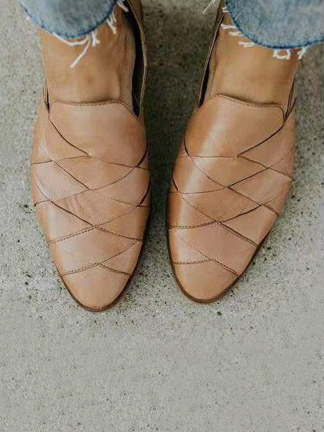 Rhombus Pattern Shallow Shoes