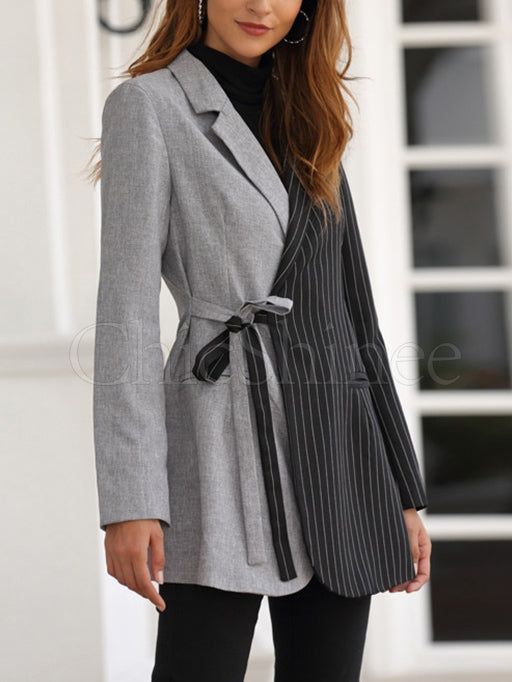 Color Matching Commuter Blazer Coat