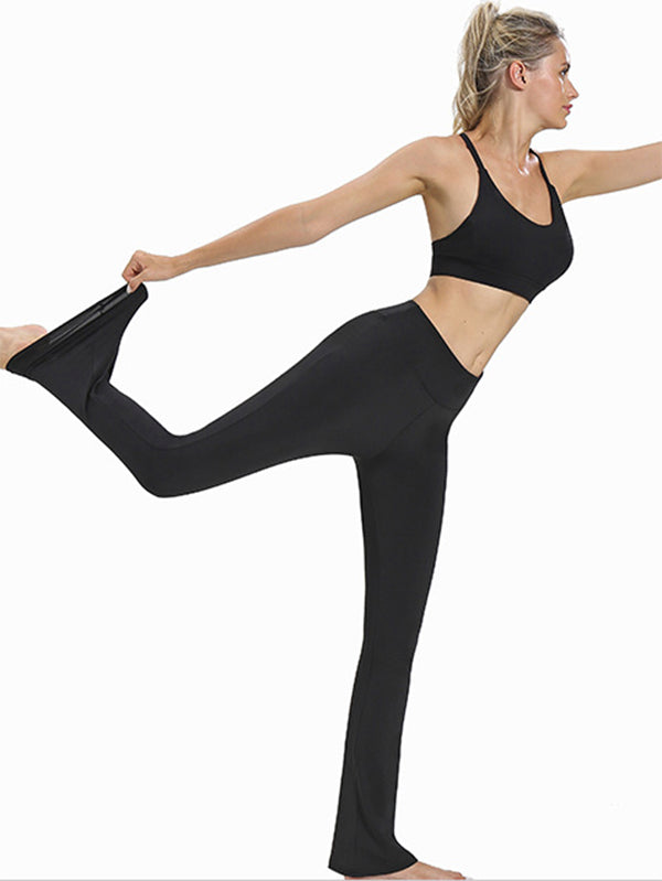 High Waist Flared Legging Sports Athletic Pants