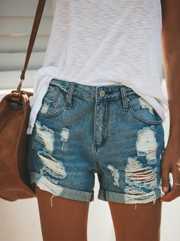 Sexy 4 Colors Blue Jeans Shorts
