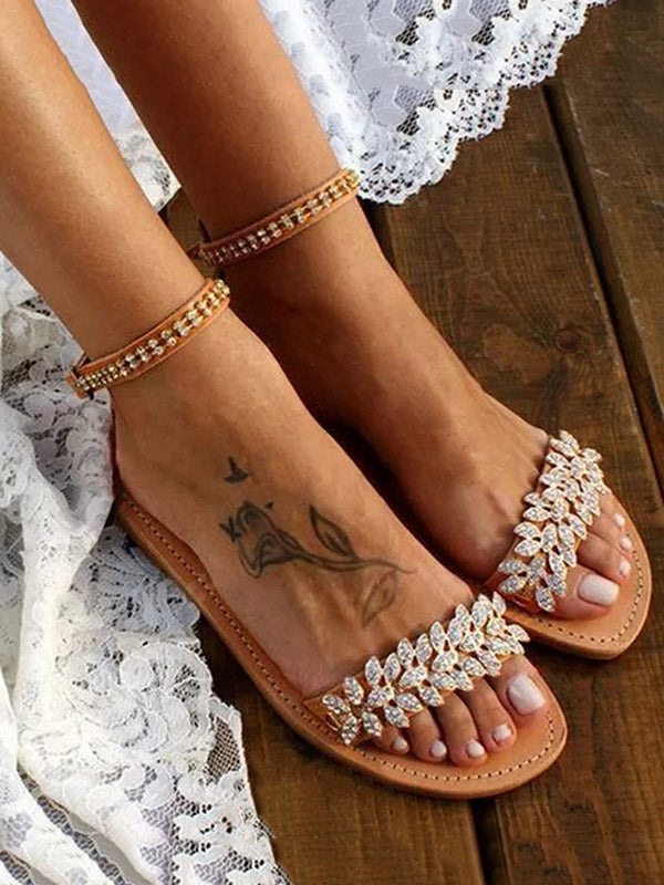 Ankle Strap Flat Buckle Sandals