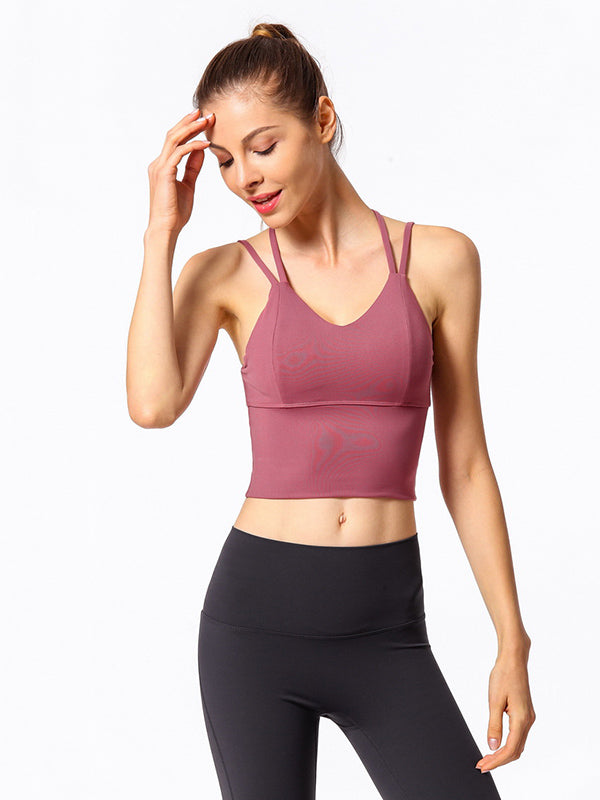 Back Criss Cross Padded Yoga Tanks