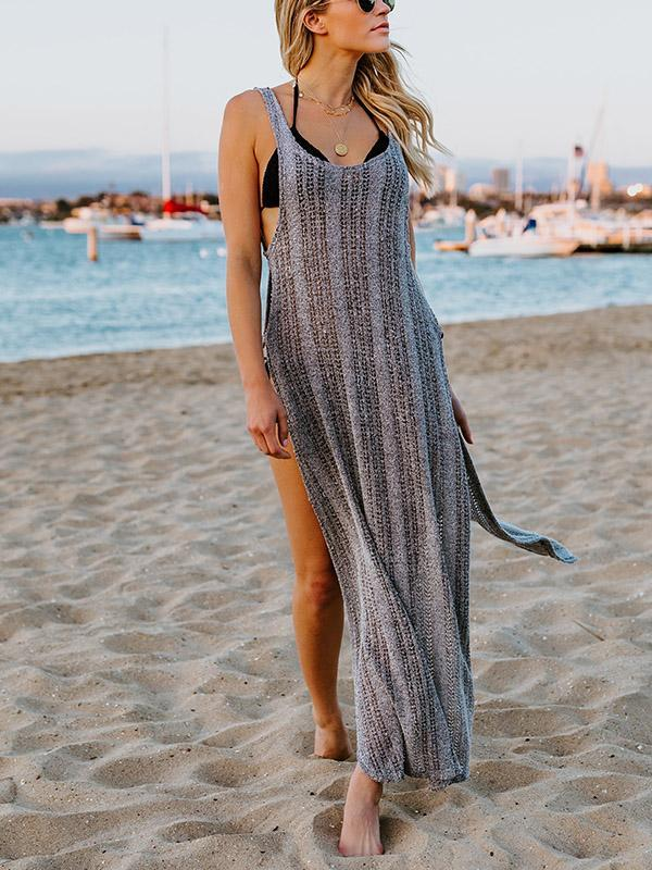 Spaghetti-neck Hollow Swimwear Cover-up