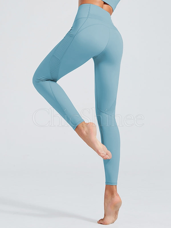 Solid Breathable Fitness Sports Leggings