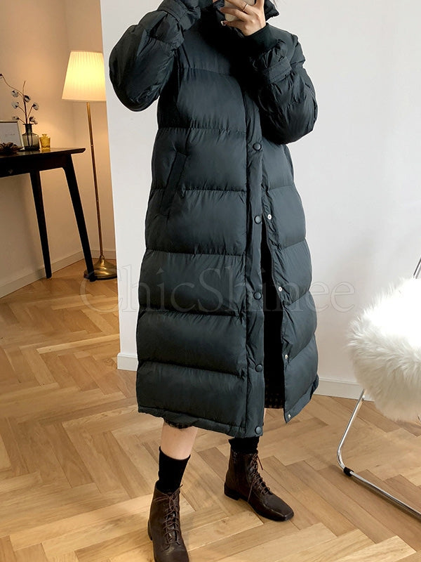 Loose Warm Long  Cotton-Padded Jacket Outwear