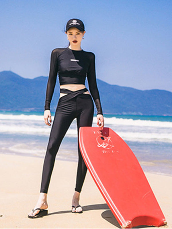 Black Two Pieces Wetsuit