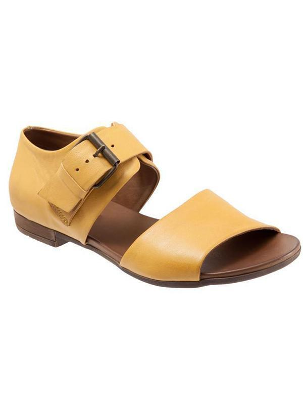 Comfortable Solid Buckle Sandals