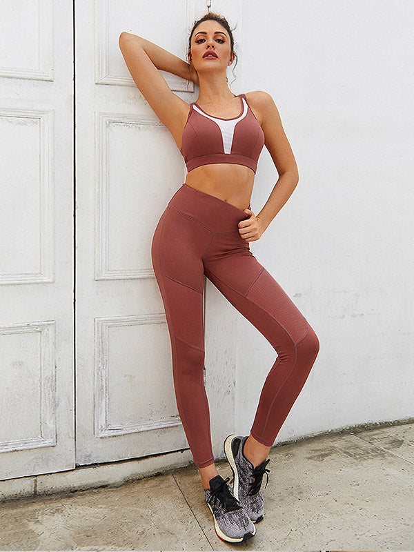 Sports Bra and Lift Hip Fitness Legging Suits