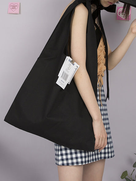 Simple Solid One-shoulder Casual Canvas Bag