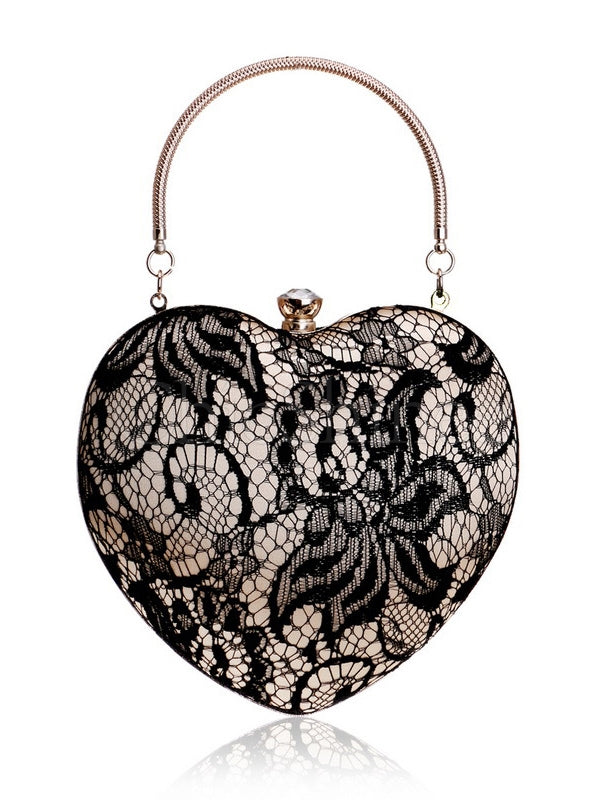 Heart-shaped Graceful Evening Handbag