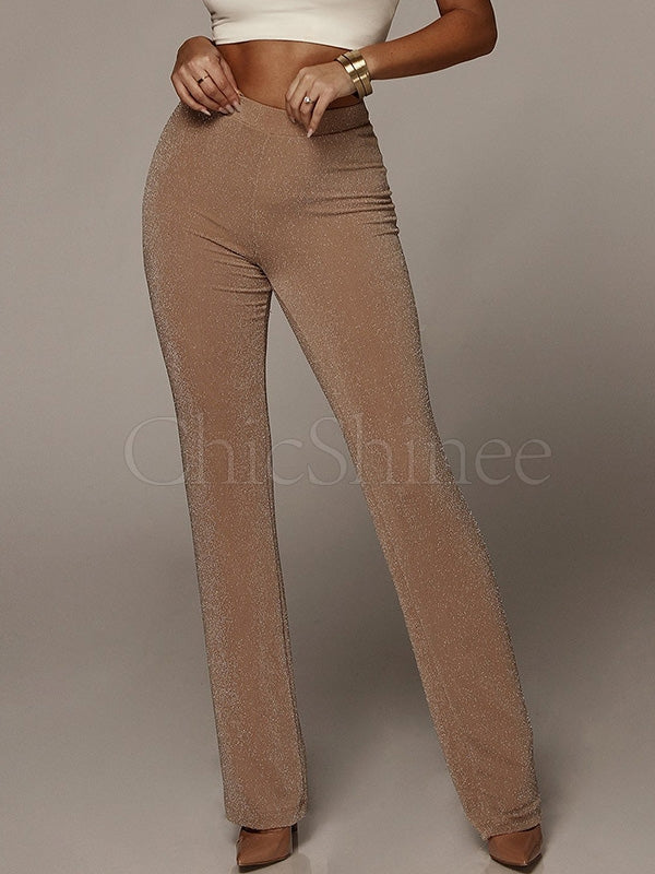 Simple 2 Colors Casual Pants Bottoms