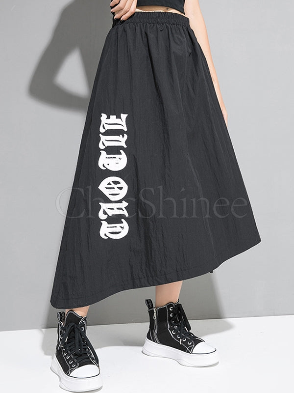 Casual A-line Cropped Skirts