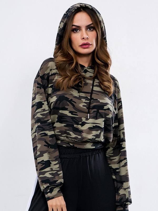 Fashion Cool Camouflage Hoodies Top