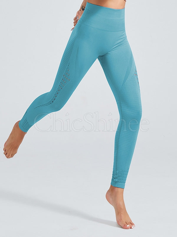 Lift Hip Solid Hollow Seamless Leggings