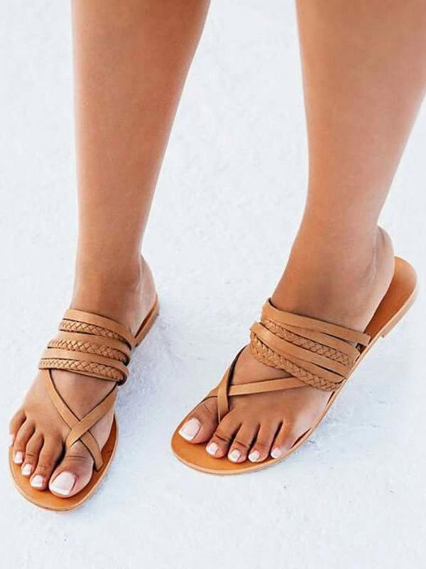 Leisure Hollow Peep Toe Sandals