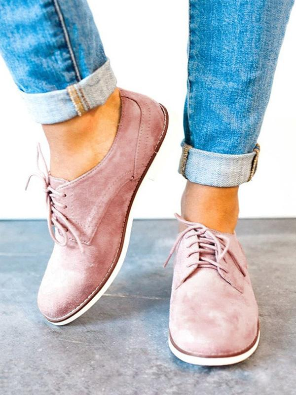 Casual Bandage Low Heel Loafers