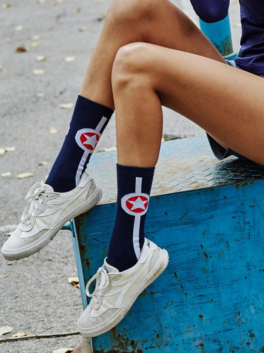 Star Athletic Mid-calf Length Socks