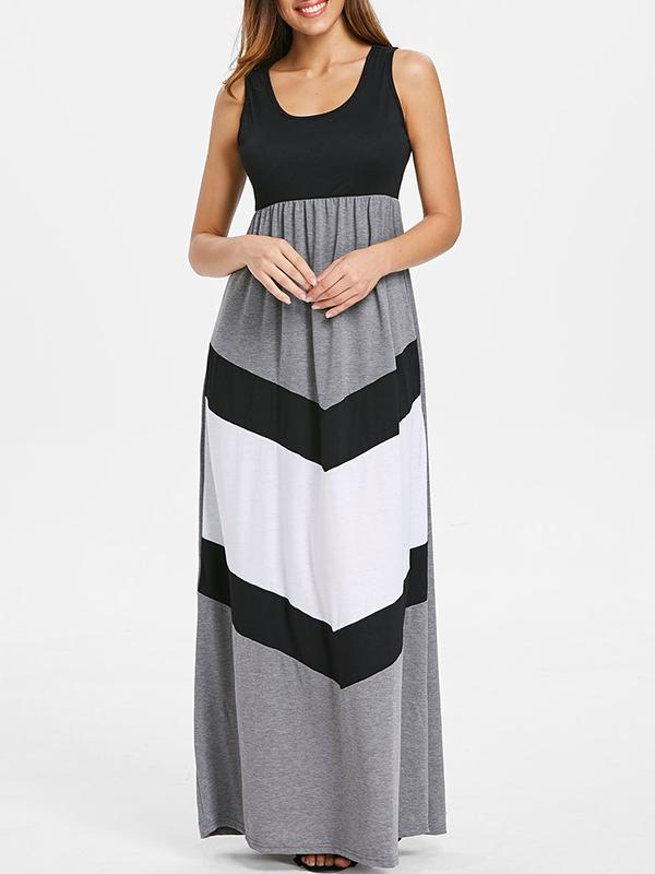 Sexy Split-joint Braces Maxi Dress