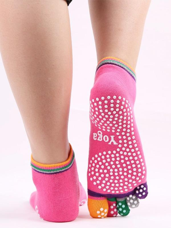 Colourful Toes Dispensing Antiskid Yoga Socks