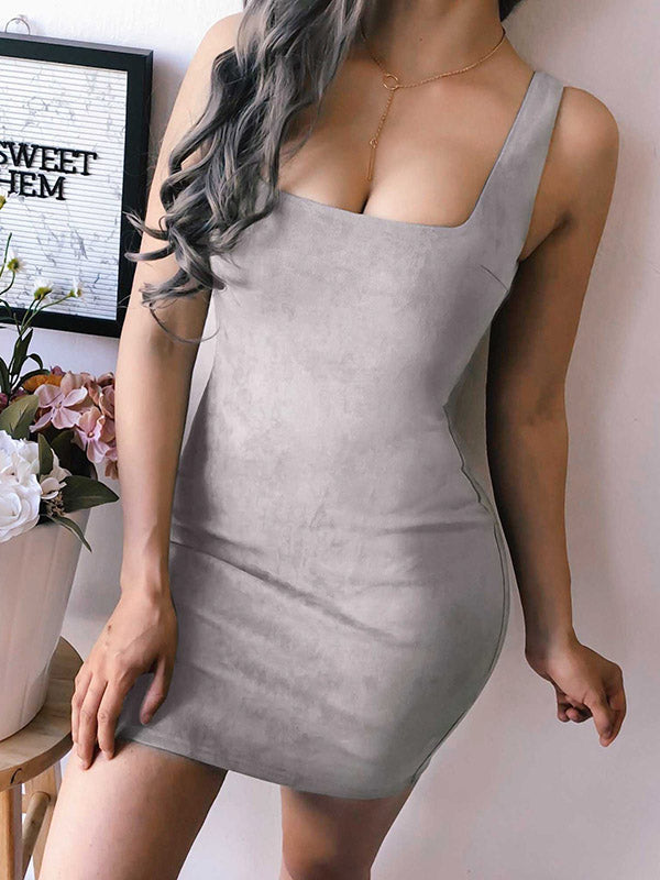3 Colors Bodycon Sexy Mini Dress