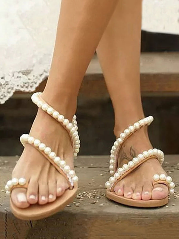 Toe Ring Flat Casual Sandals