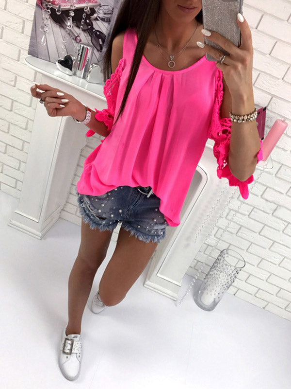Fashion Long Sleeves Solid Color Blouses&shirts Tops
