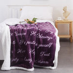 RHF Positive Energy Healing Thoughts Sherpa Super Soft Throw Blanket, Birthday Gifts