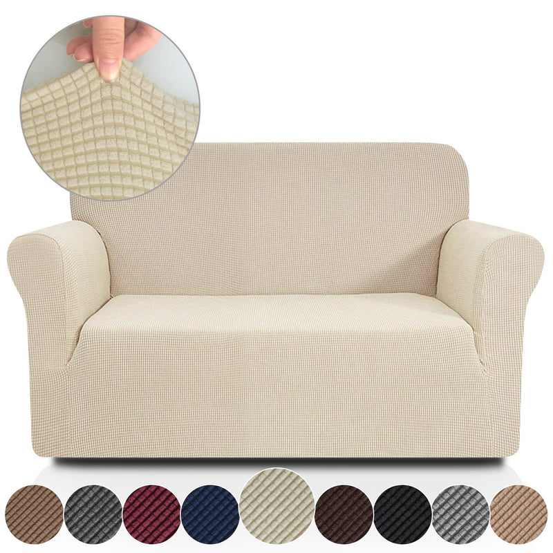 Rose Home Fashion RHF Jacquard-Stretch Sofa Cover, Slipcover for Leather Couch-Polyester Spandex Sofa Slipcover&Couch Cover for Dogs, 1-Piece Sofa Protector