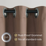 RHF Waterproof with Grommets Outdoor Blackout Curtains