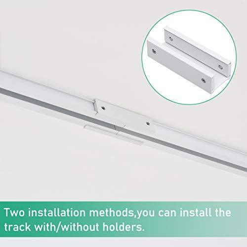 Ceiling Track for Curtains, Room Divider, Ceiling Curtain Track, Room Divider Curtain Rod, Numerous Hooks with End Hook, Easy Install