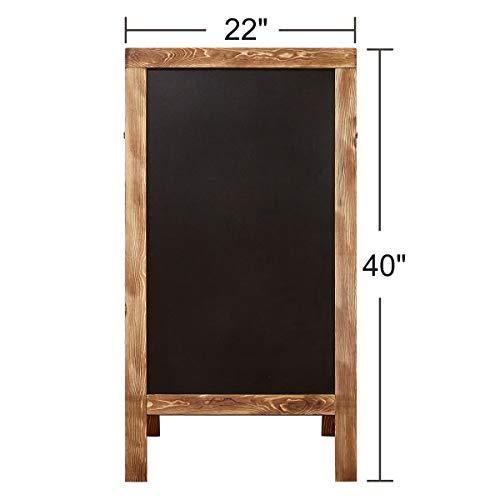 "Wide Frame, Chalkboard Sign, Chalkboard Easel, Chalkboard Signs with Stand, Extra Large 40""x22"", Sandwich Chalkboard, Sidewalk Sign, A Frame Chalkboard Sign, Standing Chalkboard Sign"