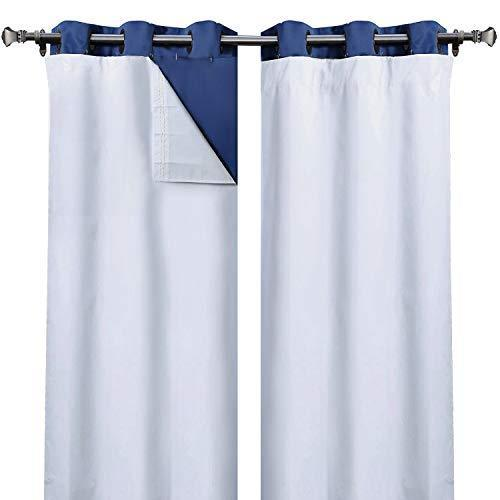 Rose Home Fashion 100% Blackout Curtain Liner Thermal Insulated White Liner, Hook Included