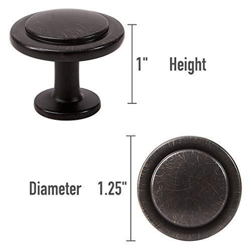 "25 Pack, 1-1/4"" Diameter, Cabinet Knobs, Drawer Pulls, Drawer Knobs, Dresser Knobs, Kitchen Cabinet Knobs, Knobs for Kitchen Cabinets"