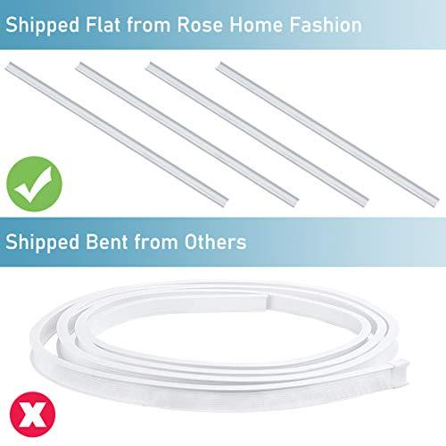 Rose Home Fashion Flexible Bendable Ceiling Track for Curtains, Room Divider, for L Shape U Shape Bay Windows Shower Curtains, Mounted Straight Curved