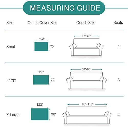 RHF Sofa Cover, Couch Cover, Couch Covers for 3 Cushion Couch, Sectional Couch Covers, Sofa Covers for Living Room, Couch Covers for Dogs, Couch Protector