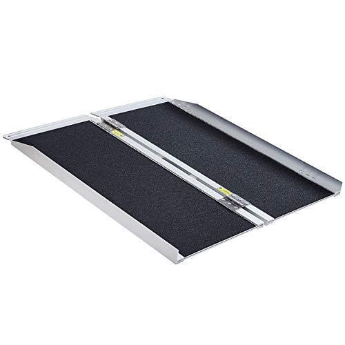 Extra Wide 800 lbs Weight Capacity, Wheelchair Ramp, Ramps for Wheelchairs, Wheelchair Ramps for Home, Portable Wheelchair Ramp, Wheelchair Ramps for Steps, Aluminum Alloy