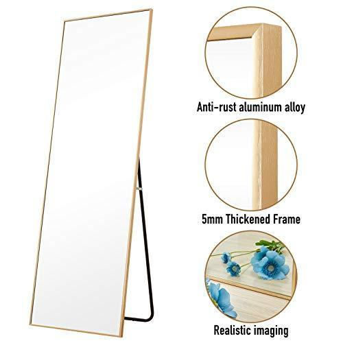 "Aluminum Alloy Thickened Frame-65""x22"", Full Length Mirror, Floor Mirror, Standing Mirror, Full Body Mirror, Large Mirror, Floor Length Mirror, Wall Mirror"