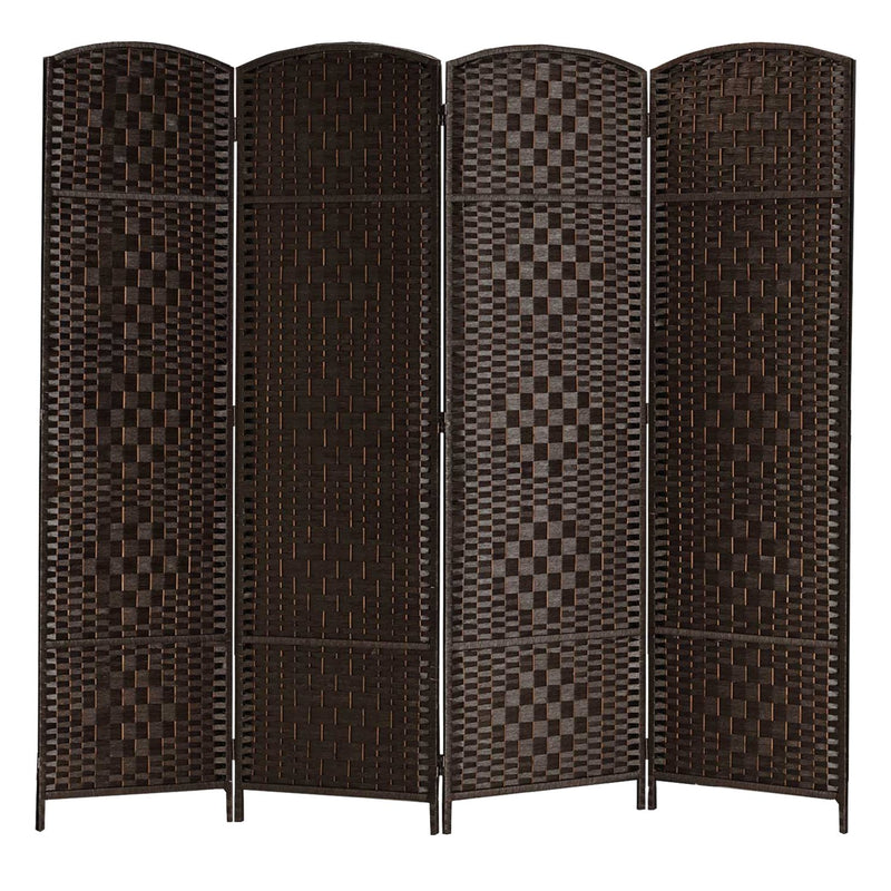6 Ft. Tall Extra Wide-Diamond Weave Fiber Room Divider, Screen Panel Room Divider/Screen,Room Dividers and Folding Privacy Screens,4 Panel, 6 Panel and 8 Panel, Multi Colors Available