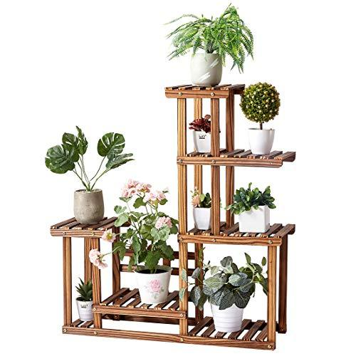 Solid Pine Wood Plant Stand, Plant Stands Indoor, Outdoor Plant Stand, Plant Shelf, Plant Stands, Antirust Screws, Overall Size: 33x34 Inch