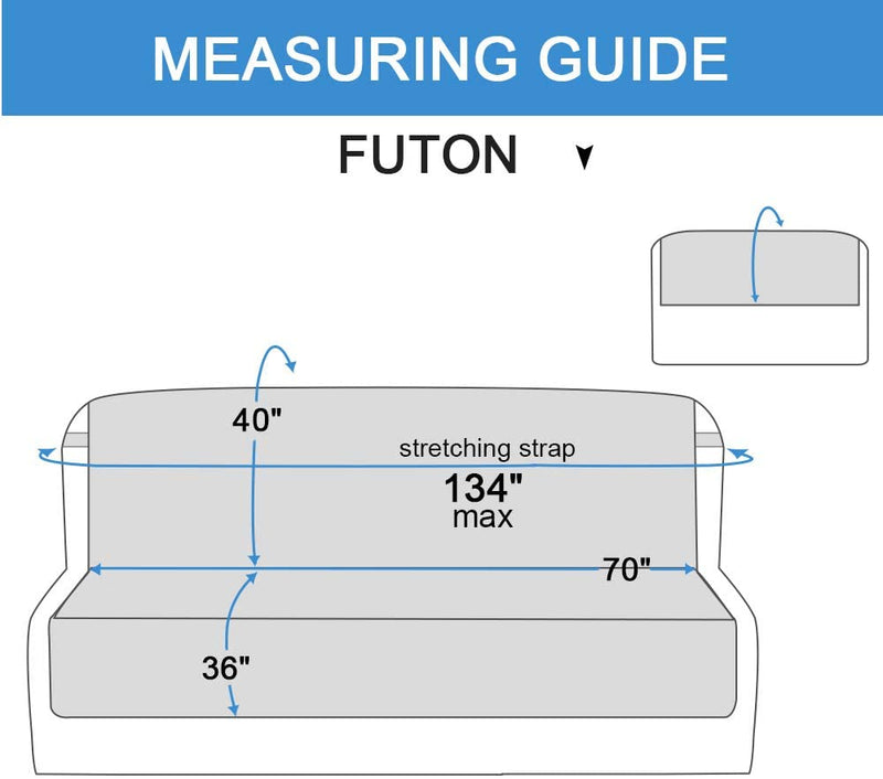RHF Reversible Futon Cover, Furniture Protector