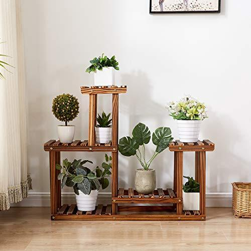 Rose Home Fashion Solid Pine Wood Plant Stand, Plant Stands Indoor, Outdoor Plant Stand, Plant Shelf, Plant Stands, Antirust Screws, Overall Size: 33x24 Inch
